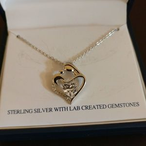 Belk silverworks Sterling silver heart necklace